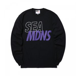 MADNESS x WIND AND SEA LONG SLEEVE PRINT TEE Black