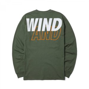 MADNESS x WIND AND SEA LONG SLEEVE PRINT TEE Marsh