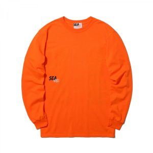 MADNESS x WIND AND SEA LONG SLEEVE PRINT TEE Orange