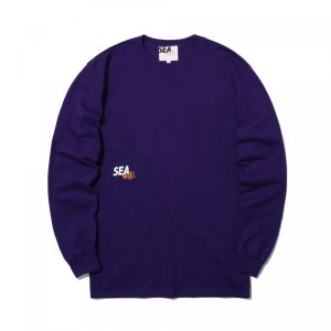 MADNESS x WIND AND SEA LONG SLEEVE PRINT TEE Purple