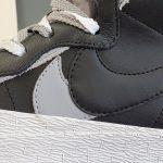 Nike Blazer Mid x Sacai Black Grey-4