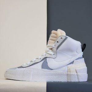 Nike Blazer Mid x Sacai White Grey