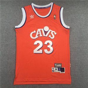 adidas LeBron James Cleveland Cavaliers Orange Hardwood Classics