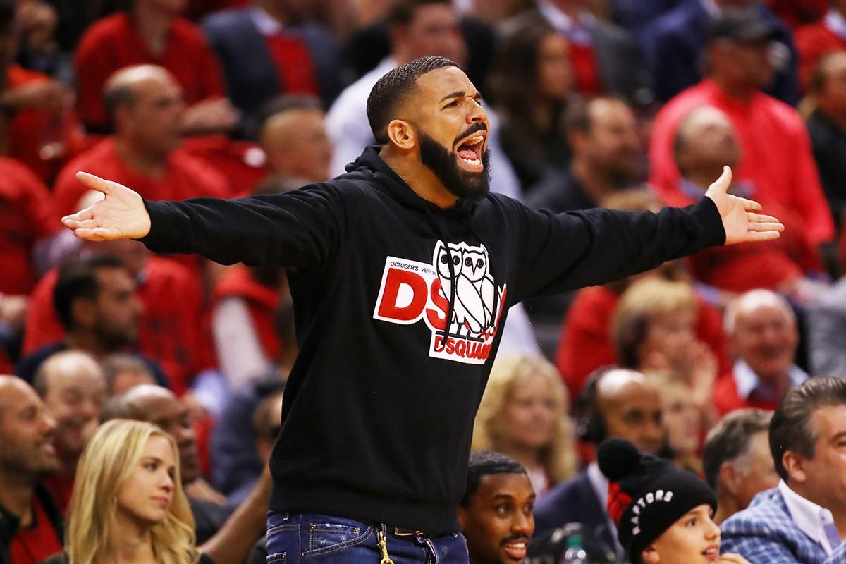 Драма Дрейка на матчах NBA теперь любимый мем в Интернете