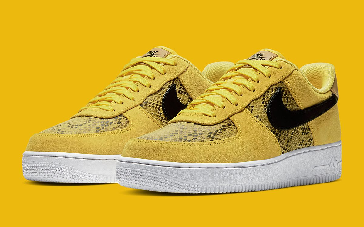 "Nike Air Force 1 Low ""Yellow Snakeskin"""