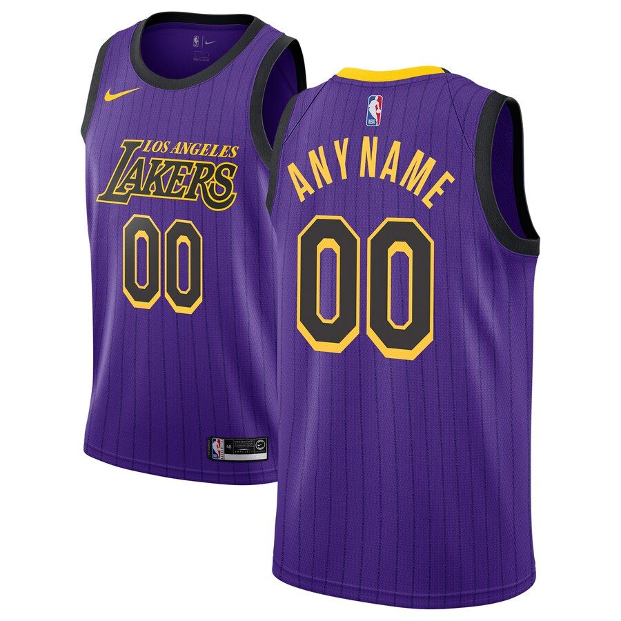 2018-19 Los Angeles Lakers Swingman Custom City Edition Purple