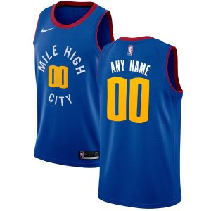 2019-20 Denver Nuggets Swingman Custom Blue Statement Edition