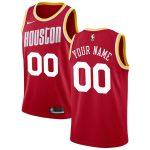 2019-20 Houston Rockets Hardwood Classics Custom Swingman Red