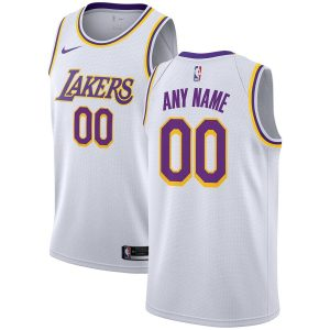 2019-20 Lakers Swingman Custom White Association Edition