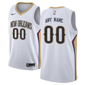 2019-20 New Orleans Pelicans Swingman Custom White Association Edition