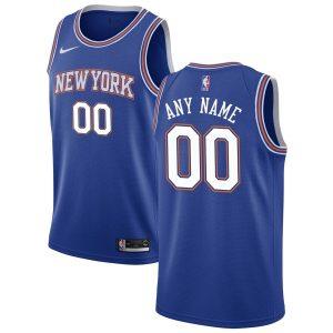 2019-20 New York Knicks Custom Swingman Blue Statement Edition