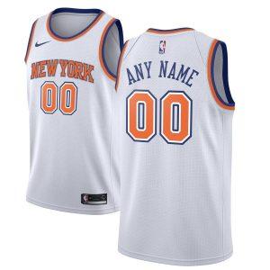2019-20 New York Knicks Custom Swingman White Statement Edition