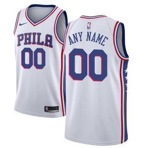 2019-20 Philadelphia 76ers Custom Swingman White Association