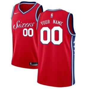 2019-20 Philadelphia 76ers Swingman Custom Red Statement Edition