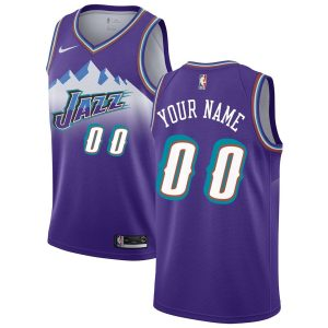 2019-20 Utah Jazz Hardwood Classics Custom Swingman Purple