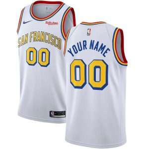 2019-20 Warriors Hardwood Classics Custom Swingman White San Francisco Classic Edition