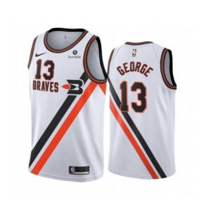 Clippers 2019-20 Paul George #13 White Throwback Buffalo Braves