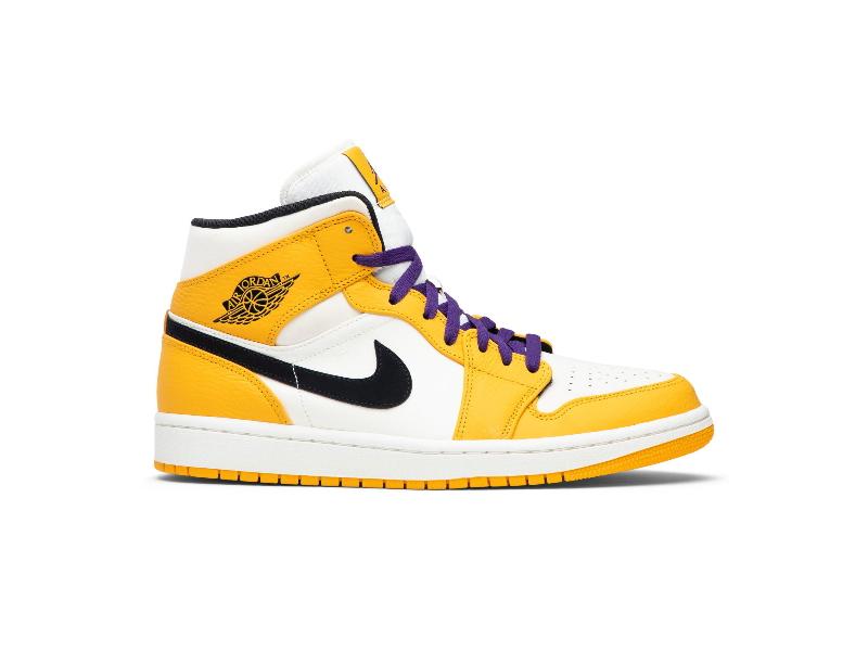 Заказать поиск кроссовок Jordan 1 Mid SE Lakers