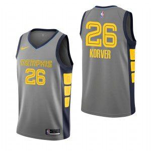 2019-20 Memphis Grizzlies Kyle Korver #26 Gray City Edition