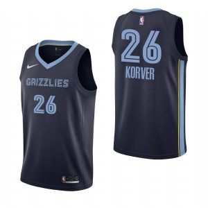 2019-20 Memphis Grizzlies Kyle Korver #26 Navy Icon Edition