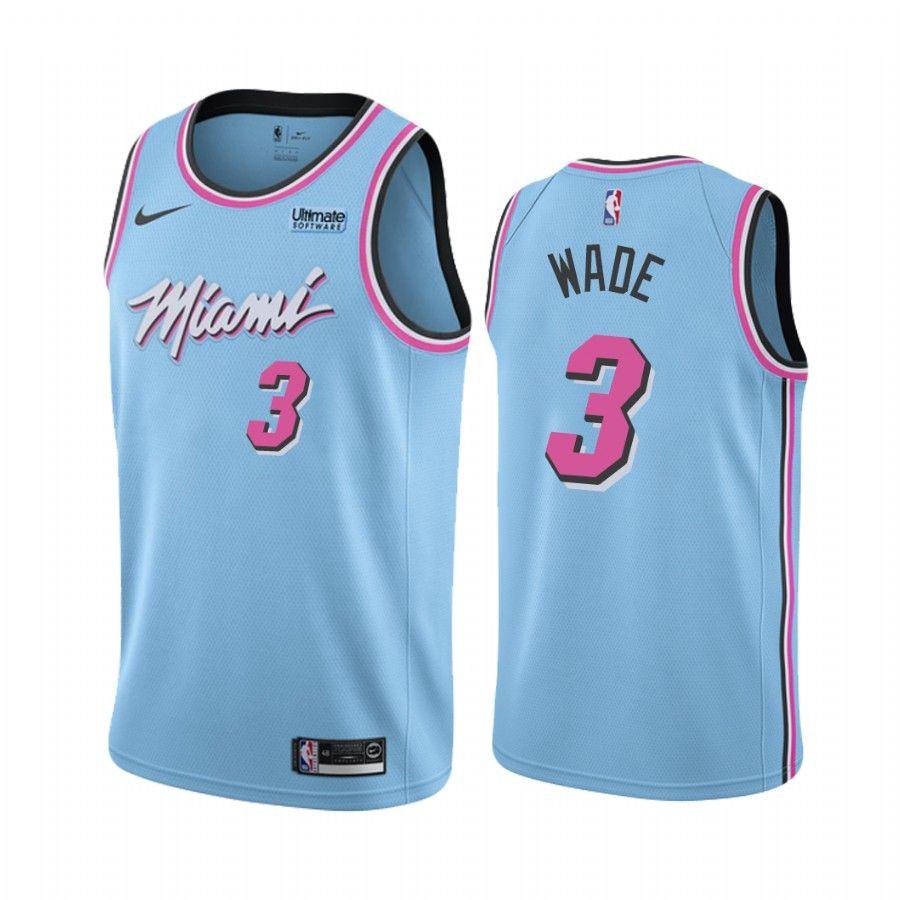 2019-20 Miami Heat Dwyane Wade #3 Blue Vice Night City Edition