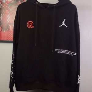 2019 CLOT x Jordan Why Not Black Hoodie