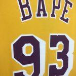 BAPE x Mitchell & Ness Lakers Tee Yellow-9