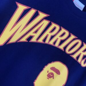 BAPE x Mitchell & Ness Warriors Tee Navy