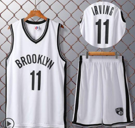 Бруклин Нетс белая с нанесением номера