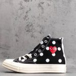 Converse Chuck Taylor All-Star 70s Hi Comme des Garcons PLAY Polka Dot Black-1