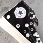 Converse Chuck Taylor All-Star 70s Hi Comme des Garcons PLAY Polka Dot Black-11