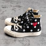 Converse Chuck Taylor All-Star 70s Hi Comme des Garcons PLAY Polka Dot Black-3