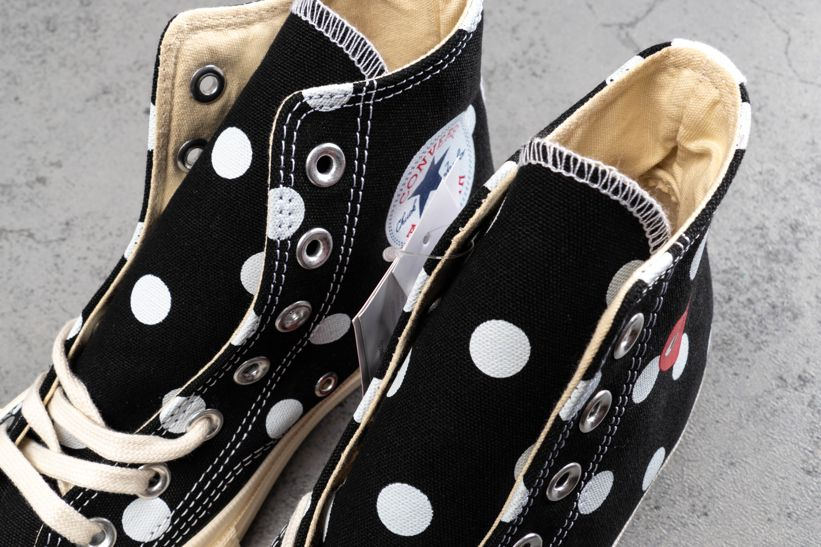 Converse Chuck Taylor All-Star 70s Hi Comme des Garcons PLAY Polka Dot Black