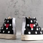 Converse Chuck Taylor All-Star 70s Hi Comme des Garcons PLAY Polka Dot Black-6