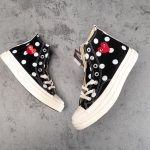 Converse Chuck Taylor All-Star 70s Hi Comme des Garcons PLAY Polka Dot Black-8