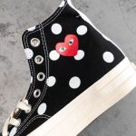 Converse Chuck Taylor All-Star 70s Hi Comme des Garcons PLAY Polka Dot Black-9
