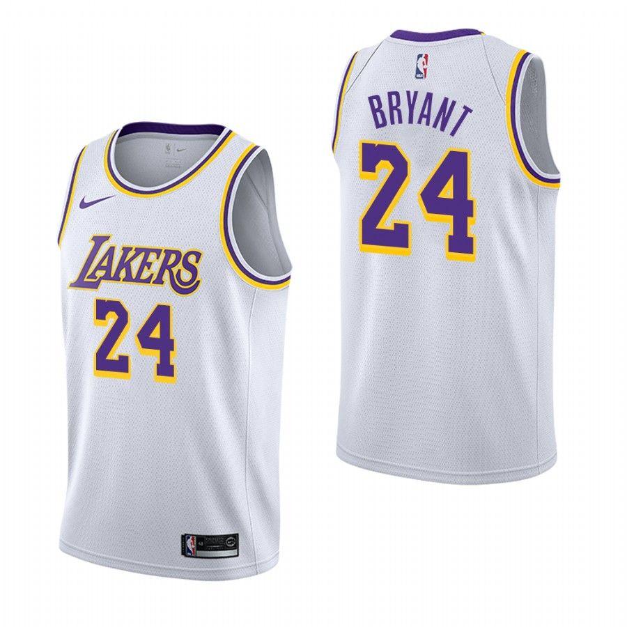 2018-19 Kobe Bryant Los Angeles Lakers #24 Association White