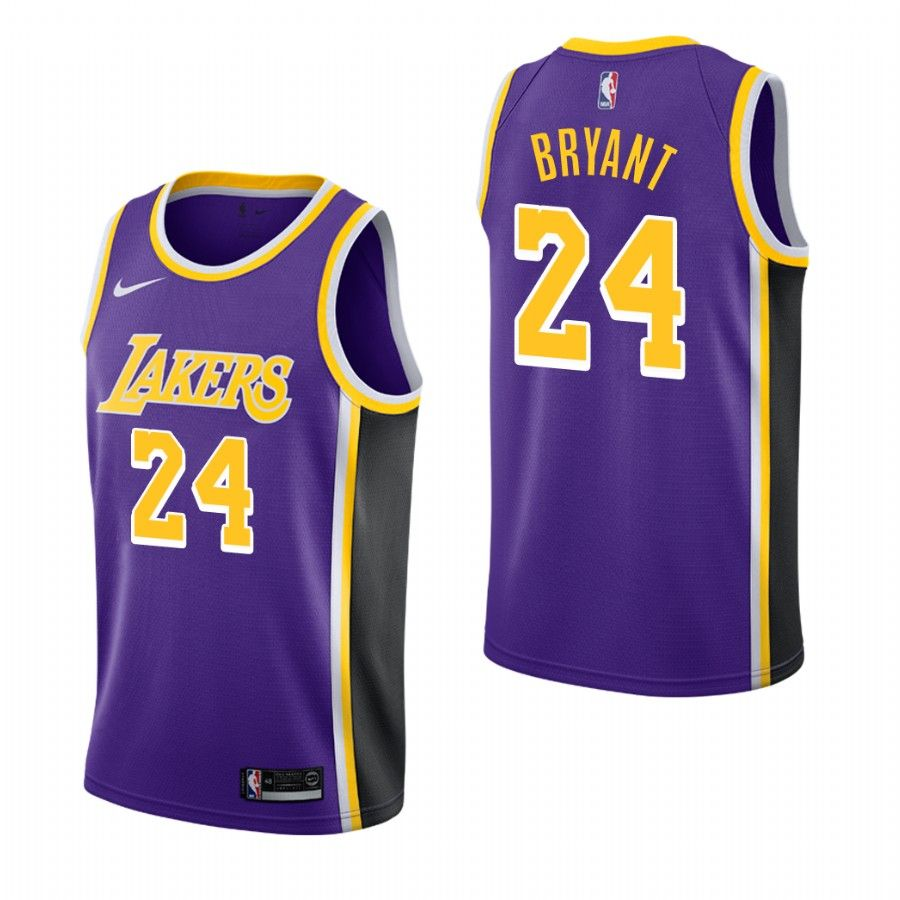 2018-19 Kobe Bryant Los Angeles Lakers #24 Statement Purple