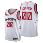 2019-20 Houston Rockets Custom White Swingman City Jersey