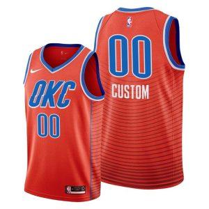 2019-20 Oklahoma City Thunder Custom Orange Statement