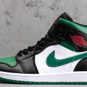 Air Jordan 1 Mid Green Toe 1