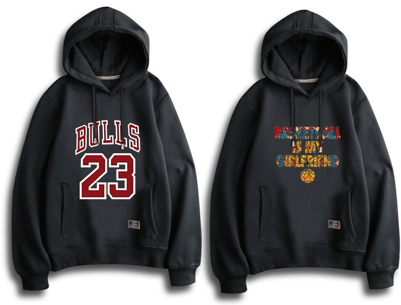 Basketball Hoodie Black Fleece