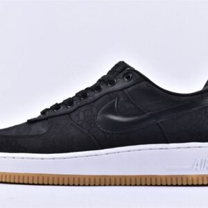 Fragment Design x CLOT x Air Force 1 Black Silk 1