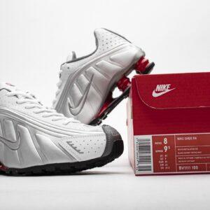 Nike Shox R4 Metallic Silver Comet Red 2018