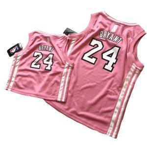 adidas Kobe Bryant 24 Lakers Pink Jersey