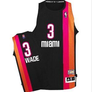 1970-71 Dwyane Wade Miami Floridians #3 ABA Hardwood Classics Black Swingman