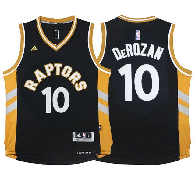 2015-16 DeMar DeRozan Toronto Raptors #10 Away Alternate Brown Youth