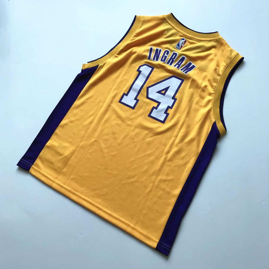 2016 Brandon Ingram LA Lakers #14 NBA Draft Home Gold