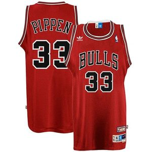 Scottie Pippen Chicago Bulls #33 Red Throwback Swingman