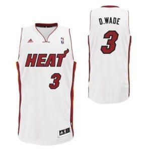 adidas Miami Heat #3 Dwyane Wade White